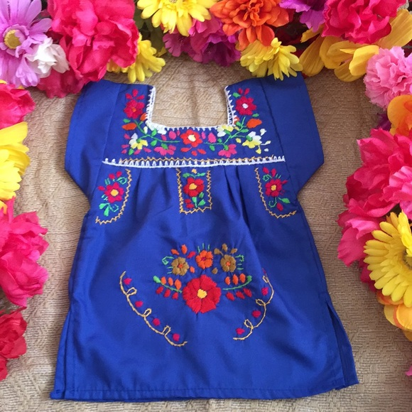 489b48126 MEXICANA Dresses | Mexican Baby Dress Embroidered Size 36 Months ...